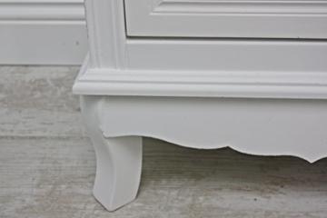 elbmöbel Sideboard weiß Holz Landhaus-Stil Kommode 2 Schubladen Schubladenkommode - 7