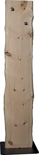 Flur-Garderobe Echtholz Zirbe: moderner Garderobenständer mit 2 Edelstahl Kleiderhacken | Jackenständer und Jackenhalter schlicht & modern in Massiv-Holz Zirbe - 2