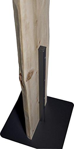 Flur-Garderobe Echtholz Zirbe: moderner Garderobenständer mit 2 Edelstahl Kleiderhacken | Jackenständer und Jackenhalter schlicht & modern in Massiv-Holz Zirbe - 5