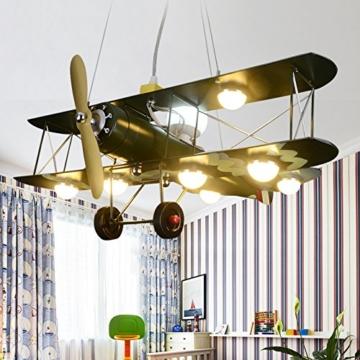 GaoHX Light American Vintage Camouflage Flugzeug Beleuchtung Kinder Zimmer Kronleuchter Jungen Schlafzimmer Lampen - 2