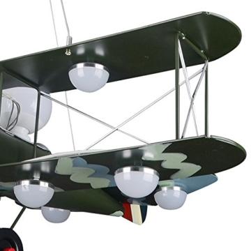 GaoHX Light American Vintage Camouflage Flugzeug Beleuchtung Kinder Zimmer Kronleuchter Jungen Schlafzimmer Lampen - 3