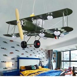 GaoHX Light American Vintage Camouflage Flugzeug Beleuchtung Kinder Zimmer Kronleuchter Jungen Schlafzimmer Lampen - 1