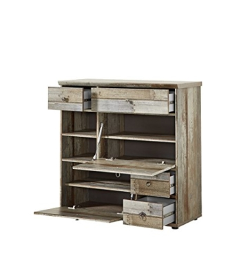 Garderobe, Set, Garderobenschrank, Flurgarderobe, Garderobenmöbel, Dielenmöbel, Flurmöbel, Wandgerderobe, Driftwood, Treibholz, Vintage - 3
