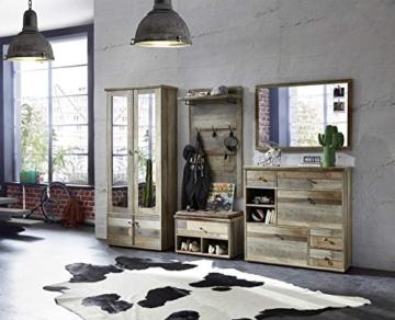 Garderobe, Set, Garderobenschrank, Flurgarderobe, Garderobenmöbel, Dielenmöbel, Flurmöbel, Wandgerderobe, Driftwood, Treibholz, Vintage - 1