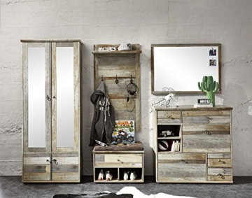 Garderobe, Set, Garderobenschrank, Flurgarderobe, Garderobenmöbel, Dielenmöbel, Flurmöbel, Wandgerderobe, Driftwood, Treibholz, Vintage - 6