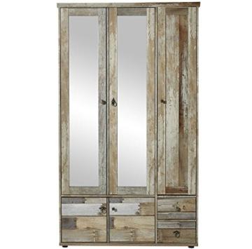 Garderobenschrank, Flurgarderobe, Flurschrank, Dielenschrank, Dielenmöbel, Driftwood, Treibholz, Vintage, Spiegel - 1