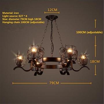 GAYY Innenbeleuchtung Kronleuchter Leuchten Kronleuchter Pendelleuchte Vintage Industrial Creative Eisen Deckenleuchten 6 Lampe für Wohnzimmer Schlafzimmer Bar Loft Style Retro Dekorieren - 2