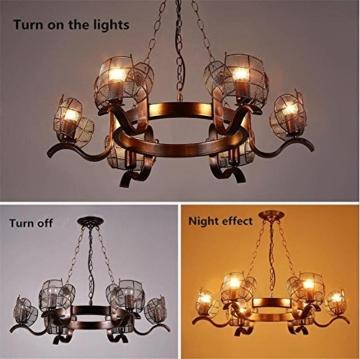 GAYY Innenbeleuchtung Kronleuchter Leuchten Kronleuchter Pendelleuchte Vintage Industrial Creative Eisen Deckenleuchten 6 Lampe für Wohnzimmer Schlafzimmer Bar Loft Style Retro Dekorieren - 3