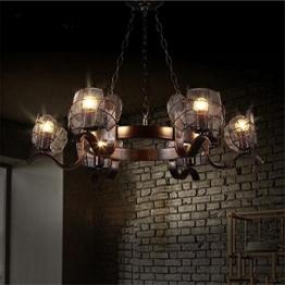 gayy innenbeleuchtung kronleuchter leuchten kronleuchter pendelleuchte vintage industrial creative eisen deckenleuchten 6 lampe fr wohnzimmer schlafzimmer - Kronleuchter Fur Wohnzimmer