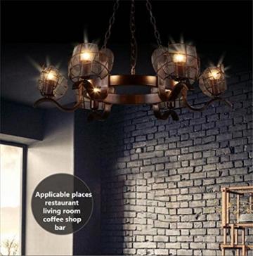 GAYY Innenbeleuchtung Kronleuchter Leuchten Kronleuchter Pendelleuchte Vintage Industrial Creative Eisen Deckenleuchten 6 Lampe für Wohnzimmer Schlafzimmer Bar Loft Style Retro Dekorieren - 7