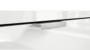Highboard Sideboard Metro, Korpus in Weiß Hochglanz / Fronten in Weiß Hochglanz mit Einsatz in Eiche Nordic - 5