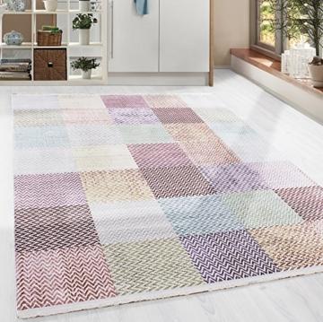 Hochwertiger Teppich Vintage Stil Kariert Gingham und Fransen, 5 ...