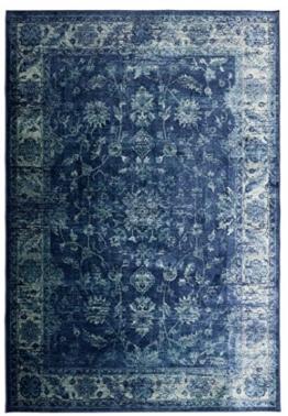 Hochwertiger Vintageteppich Sapphire, robuster & pflegeleichter Orientteppich in blau, Farbe:Design 2, Größe:160 x 230 cm - 1