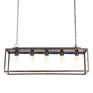 IMPRESSIONEN living Deckenleuchte - Industrial Style - Metall - Glaskasten - Breite ca. 85 cm - 2