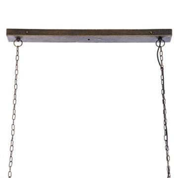 IMPRESSIONEN living Deckenleuchte - Industrial Style - Metall - Glaskasten - Breite ca. 85 cm - 3