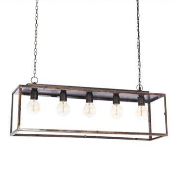 IMPRESSIONEN living Deckenleuchte - Industrial Style - Metall - Glaskasten - Breite ca. 85 cm - 4