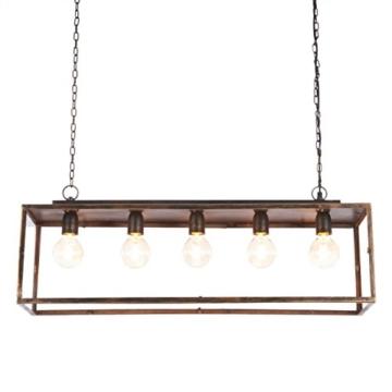 IMPRESSIONEN living Deckenleuchte - Industrial Style - Metall - Glaskasten - Breite ca. 85 cm - 1
