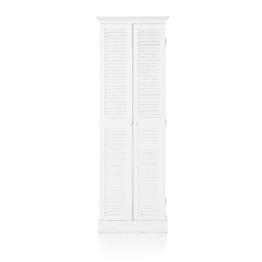 IMPRESSIONEN living Schuhschrank - Shabby-Look - Lamellentüren - 7 Fächer - weiß - ca. H 180 cm - 1