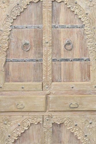 Indischer marokkanischer orientalischer Orient Landhaus Schrank Kleiderschrank Dielenschrank Belen - 190cm - 3