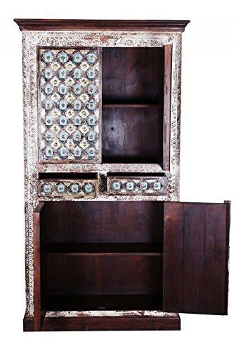 Indischer marokkanischer orientalischer Orient Landhaus Schrank Kleiderschrank Dielenschrank Billur - 2 - 185cm - 3