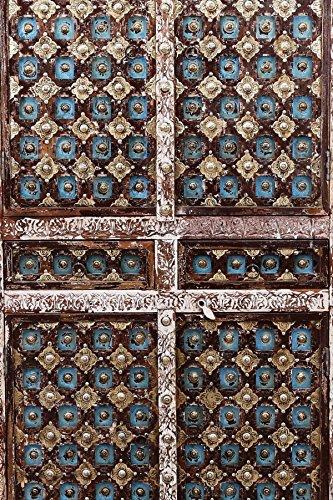 Indischer marokkanischer orientalischer Orient Landhaus Schrank Kleiderschrank Dielenschrank Billur - 2 - 185cm - 4