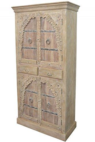 Indischer marokkanischer orientalischer Orient Landhaus Schrank Kleiderschrank Dielenschrank Belen - 190cm - 1