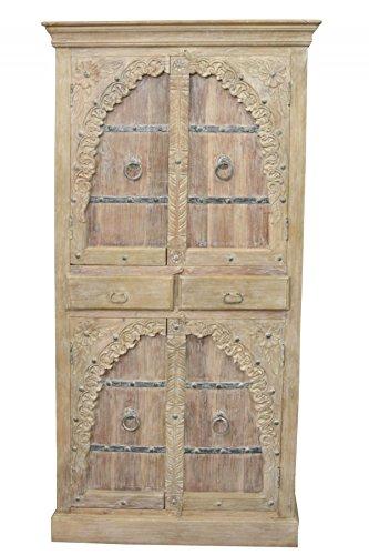 Indischer marokkanischer orientalischer Orient Landhaus Schrank Kleiderschrank Dielenschrank Belen - 190cm - 2