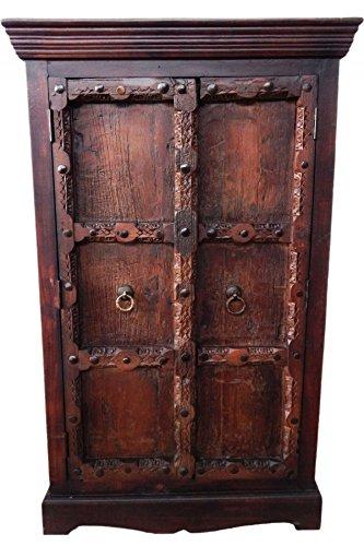 Indischer Schrank Kleiderschrank Wäscheschrank antik Brakar- 139cm - - 1