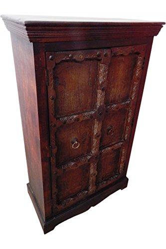 Indischer Schrank Kleiderschrank Wäscheschrank antik Brakar- 139cm - - 3