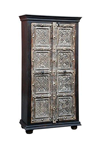 Indischer Vintage Schrank Kleiderschrank Cansin - 180cm - 1