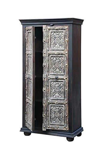 Indischer Vintage Schrank Kleiderschrank Cansin - 180cm - 2