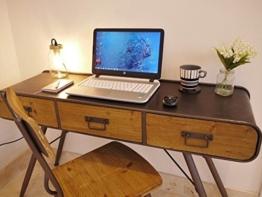 Industrie Vintage Konsole Schreibtisch Büro Seite Hall 3Schublade Sideboard Tisch 125cm - 1