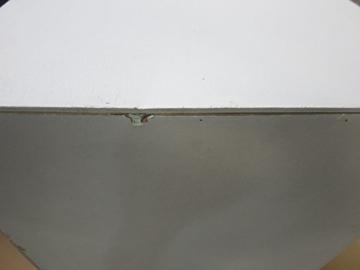 J-Line Weiß Kleiderschrank mit 2 Holzlatten weißen Lamellen 120 - 3