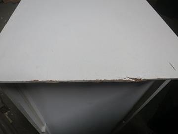 J-Line Weiß Kleiderschrank mit 2 Holzlatten weißen Lamellen 120 - 6