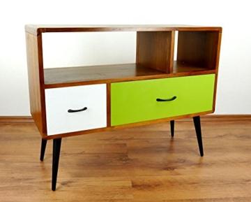 Java Retro Sideboard aus Teakholz | Vintage TV-Bank aus Massivholz | Teakholz Lowboard | Asia HiFi-Möbel (Handarbeit) | Asiatische Möbel der Marke Asia Wohnstudio - 2