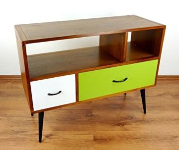 Java Retro Sideboard aus Teakholz | Vintage TV-Bank aus Massivholz | Teakholz Lowboard | Asia HiFi-Möbel (Handarbeit) | Asiatische Möbel der Marke Asia Wohnstudio - 3