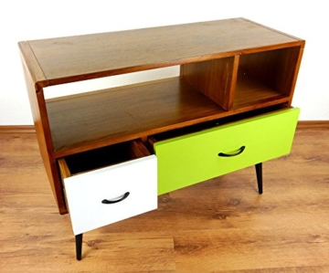 Java Retro Sideboard aus Teakholz | Vintage TV-Bank aus Massivholz | Teakholz Lowboard | Asia HiFi-Möbel (Handarbeit) | Asiatische Möbel der Marke Asia Wohnstudio - 4