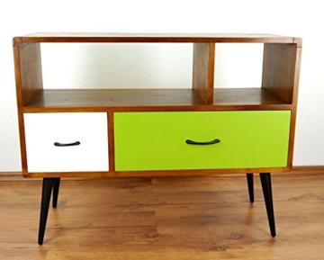 Java Retro Sideboard aus Teakholz | Vintage TV-Bank aus Massivholz | Teakholz Lowboard | Asia HiFi-Möbel (Handarbeit) | Asiatische Möbel der Marke Asia Wohnstudio - 5