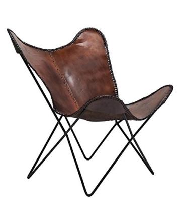KARE Vintage Sessel Butterfly Eco Leder - 1