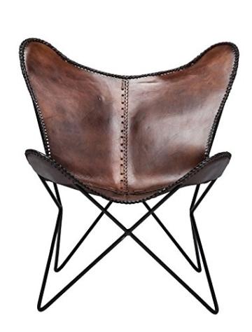 KARE Vintage Sessel Butterfly Eco Leder - 2