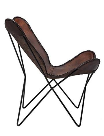 KARE Vintage Sessel Butterfly Eco Leder - 4