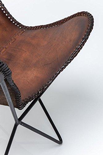 KARE Vintage Sessel Butterfly Eco Leder - 6