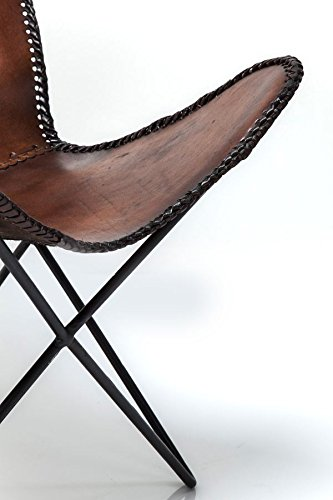KARE Vintage Sessel Butterfly Eco Leder - 7