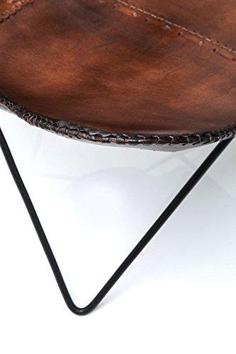 KARE Vintage Sessel Butterfly Eco Leder - 8