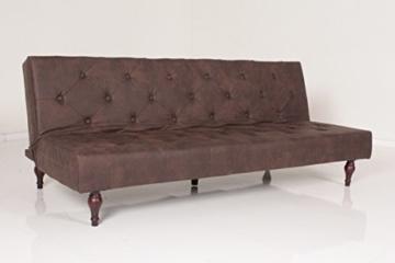 Kasper-Wohndesign KA110470 Schlafsofa, Stoff, braun, 190 x 92 x 39 cm - 2