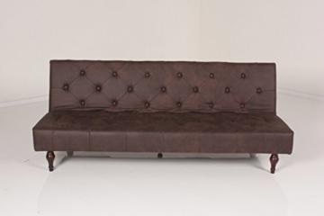 Kasper-Wohndesign KA110470 Schlafsofa, Stoff, braun, 190 x 92 x 39 cm - 3