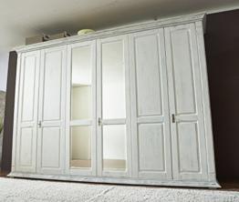 Kleiderschrank 'Montreal' 6-türig Kiefer weiß vintage - 1