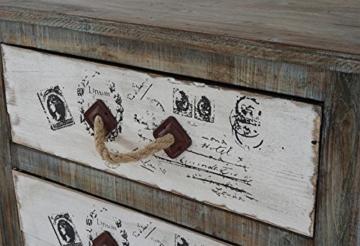 Kommode Almada Schubladenkommode Schrank Shabby-Look, Vintage, 80x72x33cm - 5