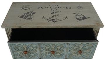 Kommode Aveiro Sideboard Schrank Shabby-Look, Vintage, 80x79x40cm - 4
