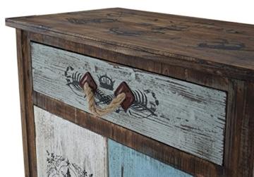 Kommode Funchal Schubladenkommode Schrank Shabby-Look, Vintage, 84x80x40cm - 3